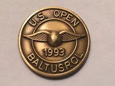 "Vintage Rare 1993 U.S. Open Championship 3/4"" Flat Golf Marker - Baltusrol G.C."