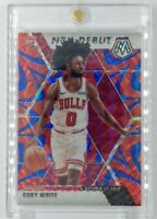 2019-20 Panini Mosaic NBA Debut Reactive Blue Prizm Coby White Rookie RC #264