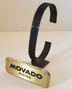 "Vintage ""MOVADO SWISS"" Store Advertising Display Watch Holder Stand"