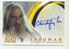 Saruman Christopher Lee Topps Auto Autograph Trading Card Lord of The Rings TT
