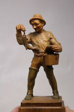 Anri Italy Carved Wood Fisherman