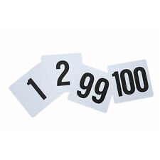 Winco Tbn-100, 4x3.75-Inch Plastic Table Numbers, No.1-100