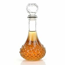 KLOUD City® Clear 1000ml Whiskey Wine Liquor Decanter with Stopper, New, Free S