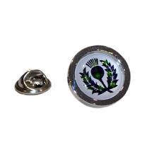 Mac Kenzie Tartan Thistle Lapel Pin Badge - XOMTP044