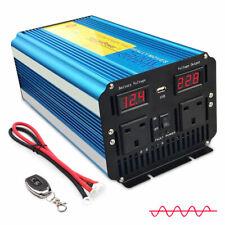 2500w 5000w pure sine wave power inverter caravan converter DC 12v to AC 230v UK