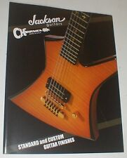 Jackson Charvel Guitar & Bass Standard & Custom Graphics Finish Catalog Brochure