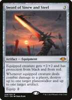 1x SWORD OF SINEW AND STEEL - Modern Horizons - MTG - NM - Magic the Gathering