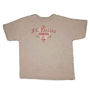 Adidas FC Dallas MLS Soccer Club Gray Logo Graphic Athletic Tshirt - XL