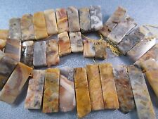 Crazy Lace Agate Sticks Beads 39pcs