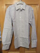 Frank & Eileen Italian Cotton PAUL Shirt - Size S - Blue/White Stripe - NEW