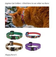 "Lupine Cat Lifetime Safety Breakaway Cat Collars  - 1/2 x 8-12"" - PICK PATTERN"