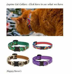 "Lupine Lifetime Breakaway Cat Collars  SOME REFLECTIVE  1/2 x 8-12"" - U PICK"