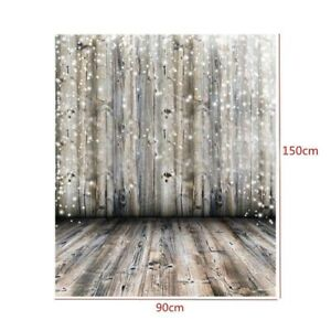 Polyester 7x5ft Grunge Mottled Lateral-Cut Wood Texture Plank Photography Background Rustic Whitish Wooden Board Backdrop Children Adult Pets Artistic Portrait Shoot Studio Props