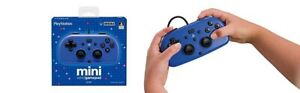 Hori Mini Wired Gamepad (Playstation 4) PS4 Blue Official Product Used Once