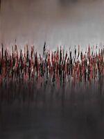 """Original abstract oil painting, signed, Nalan Laluk: """"Marsh at Dawn"""""""