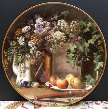 "Royal Mosa Wandteller "" Stilleven met Veldbloemen "" v. Kees v. d. Berg 1988 Nr.1"