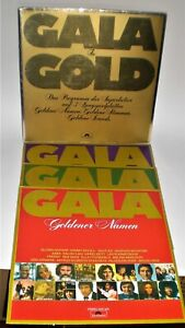 3x LP V.A. GALA IN GOLD  - POLYDOR 2636 010 - 3 LPs in GOLD-Faltcover D1975  vg+