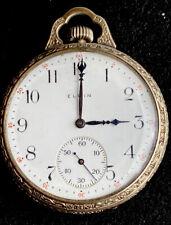 ANTIQUE 1925 ELGIN POCKET WATCH 7 JEWELS SIZE 12 / needs repair
