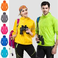 Men Women Jacket Waterproof Windproof Outdoor Cycling Sports Rain Coat S-3XL