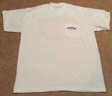 "Vintage Camel 1991 Made in Usa ""Joe Camel"" Beach White pocket T-Shirt Men's Xl"