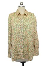 Gap Designed Crafted Fitted Boyfriend Button Down Shirt M Pink Floral Cotton B