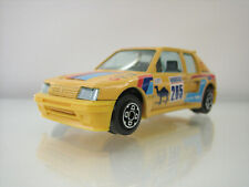Diecast Bburago Peugeot 205 Turbo 16 1:43 in Yellow Good Condition