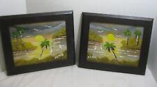 B.L. Butler Sunset on Banana River Set of 2 Oil Paintings Highwayman style Fla.