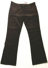 NWT $59 GUESS Brown Stretch Corduroy Pants Womens 12, Boot Cut, Just Below Waist