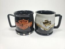 Lot Of 2 Harley Davidson Coffee Mugs Cups Official 20 Ounce Size