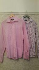 "2 x Shirts by DUCHAMP pinke diamond & Purple check A1 condition 16"" collar"