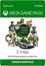 3 Mesi Xbox Game Pass Abbonamento Xbox One Live