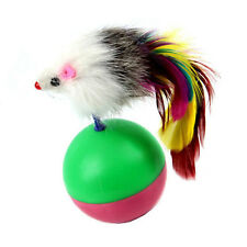 Funny Kids Cute Pet Cat Kitten Training Play Toy Mouse Tumbler Ball N3
