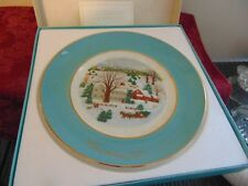 Vintage 1973 and 1974 Avon Christmas Plates with 22K Gold Trim