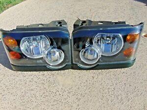 2003-04 Land Rover Discovery Headlight Assemblies Halogen LH & RH Both Tested
