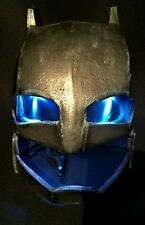 NEW STYLE Batman Inspired Custom Fiberglass Motorcycle Helmet with lights!