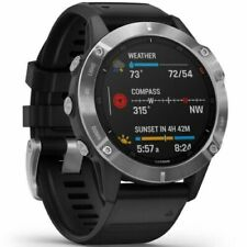 RRP£529 Garmin Fenix 6 47mm Multisport Silver with Black Rubber Band NEW UNUSED