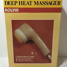 Kolvin Deep Heat Massager In Box With Attachments Model Dh-2 Tendron