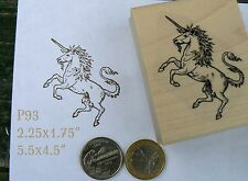 P93 Unicorn rubber stamp wm