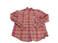 Denim & Supply Ralph Lauren Shirt Red Plaid Pearl Snap Up Long Sleeve Mens XL
