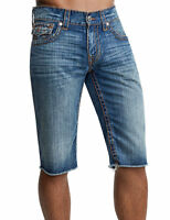 True Religion $249 Men's Straight Cut Off Big T Shorts -101262