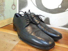 Bostonian Black Leather Wingtip Oxfords Men's 10M #28175 Made in India