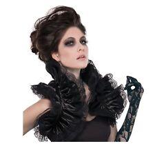 Señoras Vampiro Gótico Reina volantes de encaje Mini Bolero Accesorio Disfraz De Halloween
