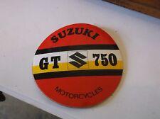 vintage suzuki advertisment sticker genuine  35 years old nos gt 750