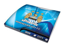 Etiqueta engomada de la piel de consola Playstation 3 Slim Manchester City Football Club PS3 Nuevo