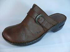 "Women's BORN Shoes US10/EUR42 Brown 2.25"" Heels Slip-On Mules L5"