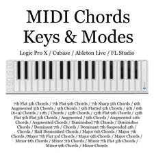 Midi Chords Keys & Modes / 348 Midi Files / Logic Pro / Cubase / Ableton Live /