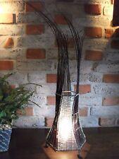 Lampe Rattan Glas Metall Beleuchtung Wohnzimmer Unikat  Indonesien Bali Romantik