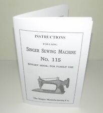 Singer 115 sewing machine manual Reproduction