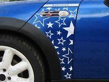 Garde boue-Autocollant Fender Décalque stars F. Mini Cooper r50 r53 étoiles One works