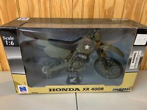 2006 NewRay HONDA XR 400R MOTORCYCLE 1:6 SCALE DIE-CAST & PLASTIC 48913 NIP